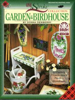 Donna Dewberry Garden & Birdhouse One Stroke Folk Art Tole Decorative