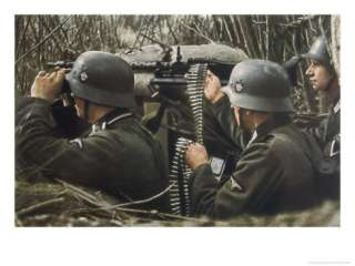 German Machine Gun Crew Ready and Waiting Giclee Print by Unsere