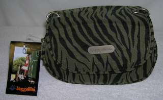BAGGALLINI On The Go Travel Cross Body Bag Purse Zebra Stripe OGZ508DO