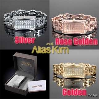 Deluxe Transparent Rhinestone Series Alias Kim Ladies Bracelet Watch