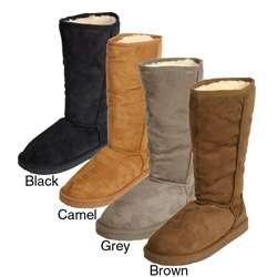 Adi Designs Womens Microsuede Mid calf Boots