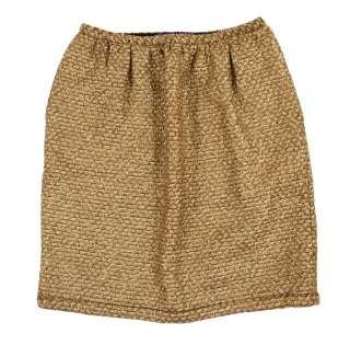 Ralph Lauren Purple Label Gold Wool Cashmere Skirt 4 New $1298
