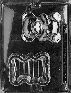 BEAR POUR BOX (A068 PO Chocolate Candy Mold Soap 3 1/4 x 4 1/4