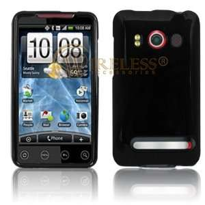 Jet Black Open Face Slim Back Cover for HTC EVO 4G Sprint