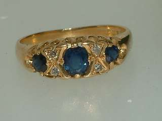 1963 18 carat gold sapphire & diamond gypsy style ring