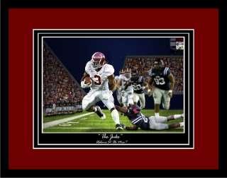 Alabama Football Trent Richardson The Juke framed and matted print