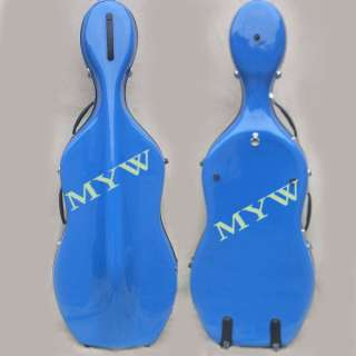 Glass Fiber 4/4 new cello case blue/red/yellow /black/orange/white