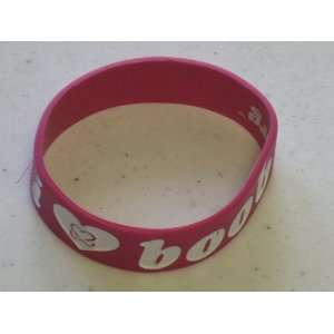 New Fashion Silicone Rubber Bracelet Heart Boobies  Pink Red
