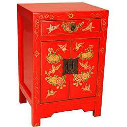 Hand painted Butterflies and Flowers End Table (China)  Overstock
