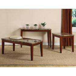 Faux Marble Top Coffee, End and Sofa Table (Set of 3)