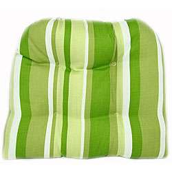 Lime Indoor/ Outdoor Dining Chair Pads (Set of 2)