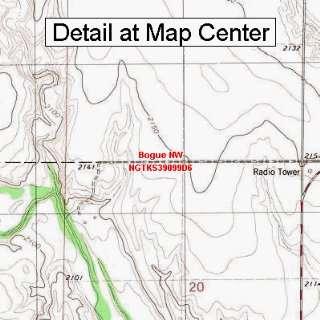 USGS Topographic Quadrangle Map   Bogue NW, Kansas (Folded/Waterproof