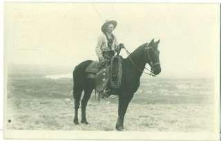 MONTANA Cowboy, Vintage Evelyn Cameron 1909 Real Photo Postcard