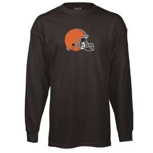 Cleveland Browns Youth Brown Logo Premier Long Sleeve T Shirt: