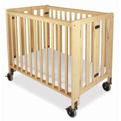 Foundations HideAway Folding Fixed Side Full Size Crib  Overstock