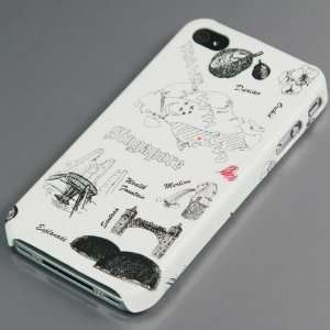 Travel Series Plastic Case / Cover / Skin / Shell for Apple iPhone 4