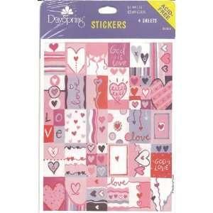 God Is Love Heart Scrapbook Stickers (35366) Arts, Crafts