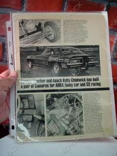 CHADWICK 1969 CHEVY CAMARO DRAG HOT ROD PHOTO NHRA Funny Car C