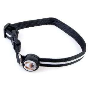 Red LED Flashing Light Dog Pet Nylon Safety Collar  Pet