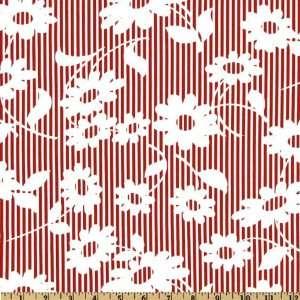 44 Wide Moda Hullabaloo Frolic Red Fabric By The Yard