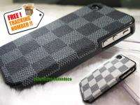 Grey Deluxe Leather Hard Case Cover for Apple iPhone 4S 4G AT&T CDMA
