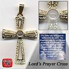 lords prayer cross necklace