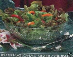 INTERNATIONAL SILVER CO CRYSTAL SALAD BOWL SET MIB