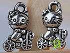 500Pcs Tibetan silver very delicate hello kitty bike charms Pendant 12