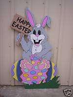 BUNNY ON BOUNCEY EGG Easter Yard Art Decoration