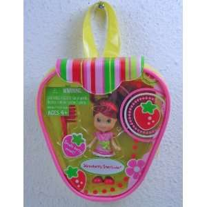 : Strawberry Shortcake Mini Doll with Purse  Pink Dress: Toys & Games
