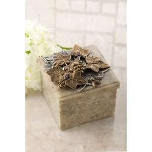 Jeweled Vineyard Soapstone Box with Bee: Everything Else