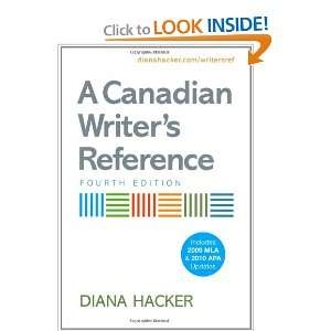 Canadian Writers Reference with 2009 MLA and 2010 APA Updates