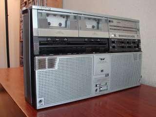 VINTAGE SHARP GF 555 4 BAND DUAL CASSETTE GHETTOBLASTER BOOMBOX NICE