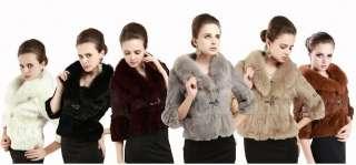 2012 Womens Fox Rex hair coat Winter Fashion Warm Coat Jacket Outwear