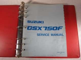 1989  1996 Suzuki GSX750F GSX Motorcycle Service Manual