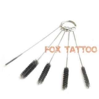 Set of Tattoo Airbrush Spray Gun Tip Cleaning Brush Kit