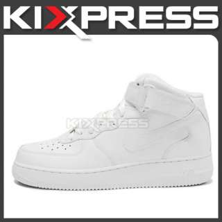 Nike Air Force 1 Mid 07 Pure White 3M Reflector Swoosh
