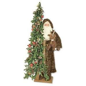 57 Ditz Father Christmas Santa Old World Woodsman Tree