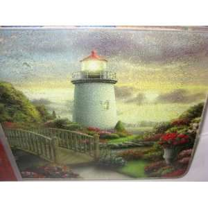 Tempered Glass Cutting Board 12 x 8 Lighthouse and Walking