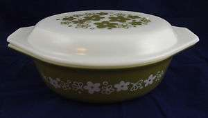 Corelle Spring Blossom (Crazy Daisy) 1.5 QT Oval Covered Casserole
