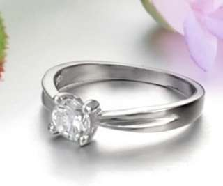 JRE03 925 Sterling Silver 18KWGP Charming Cubic Zirconia Simple Love