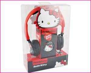 Hello Kitty red black cute earphone headphone headset mic 3.5mm for PC