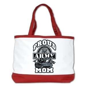 Shoulder Bag Purse (2 Sided) Red Proud Army Mom Tank