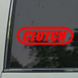 Cluch Red Decal Hard Rock Band Car ruck Window Red