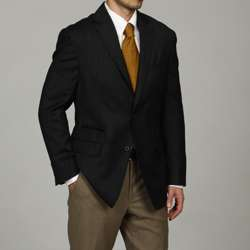 Mens Navy Wool blend Sportcoat