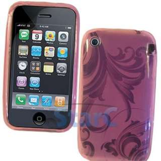 PINK TPU SKIN CASE FOR APPLE IPHONE 3G 3GS