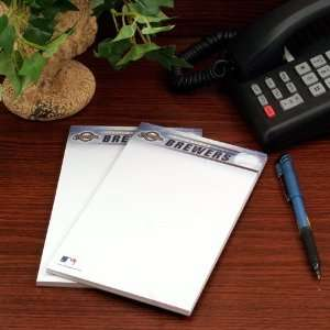 Milwaukee Brewers Two Pack 5 x 8 Team Logo Notepads