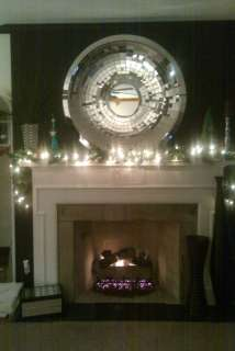 This is from our Luxe Home Line Beveled round mirror is surrounded