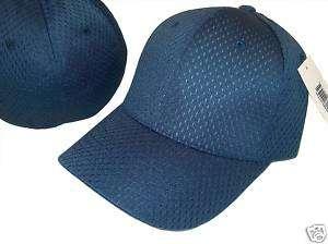 BLUE FLEX ULTRA FIT MESH BASEBALL CAP HAT HATS CAPS S/M