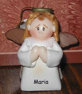 Lil Angel ORNAMENT Personalized M Names NWT